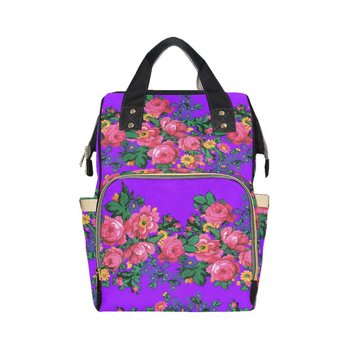 Kokum's Revenge-Lilac Multi-Function Diaper Backpack (Model 1688) Diaper Backpack (1688) e-joyer
