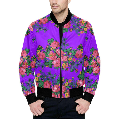 Kokum's Revenge-Lilac Unisex Heavy Bomber Jacket with Quilted Lining All Over Print Quilted Jacket for Men (H33) e-joyer