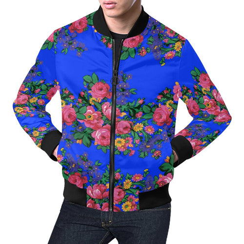 Kokum's Revenge- Royal All Over Print Bomber Jacket for Men/Large Size (Model H19) All Over Print Bomber Jacket for Men/Large (H19) e-joyer