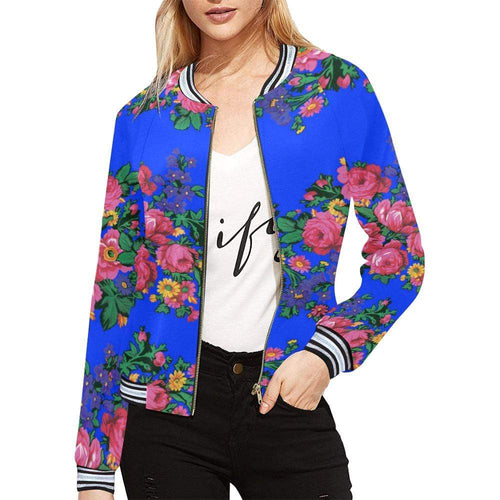 Kokum's Revenge- Royal All Over Print Bomber Jacket for Women (Model H21) All Over Print Bomber Jacket for Women (H21) e-joyer