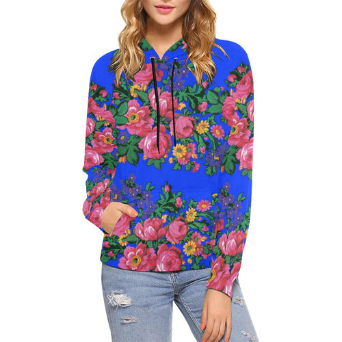 Kokum's Revenge- Royal All Over Print Hoodie for Women (USA Size) (Model H13) All Over Print Hoodie for Women (H13) e-joyer