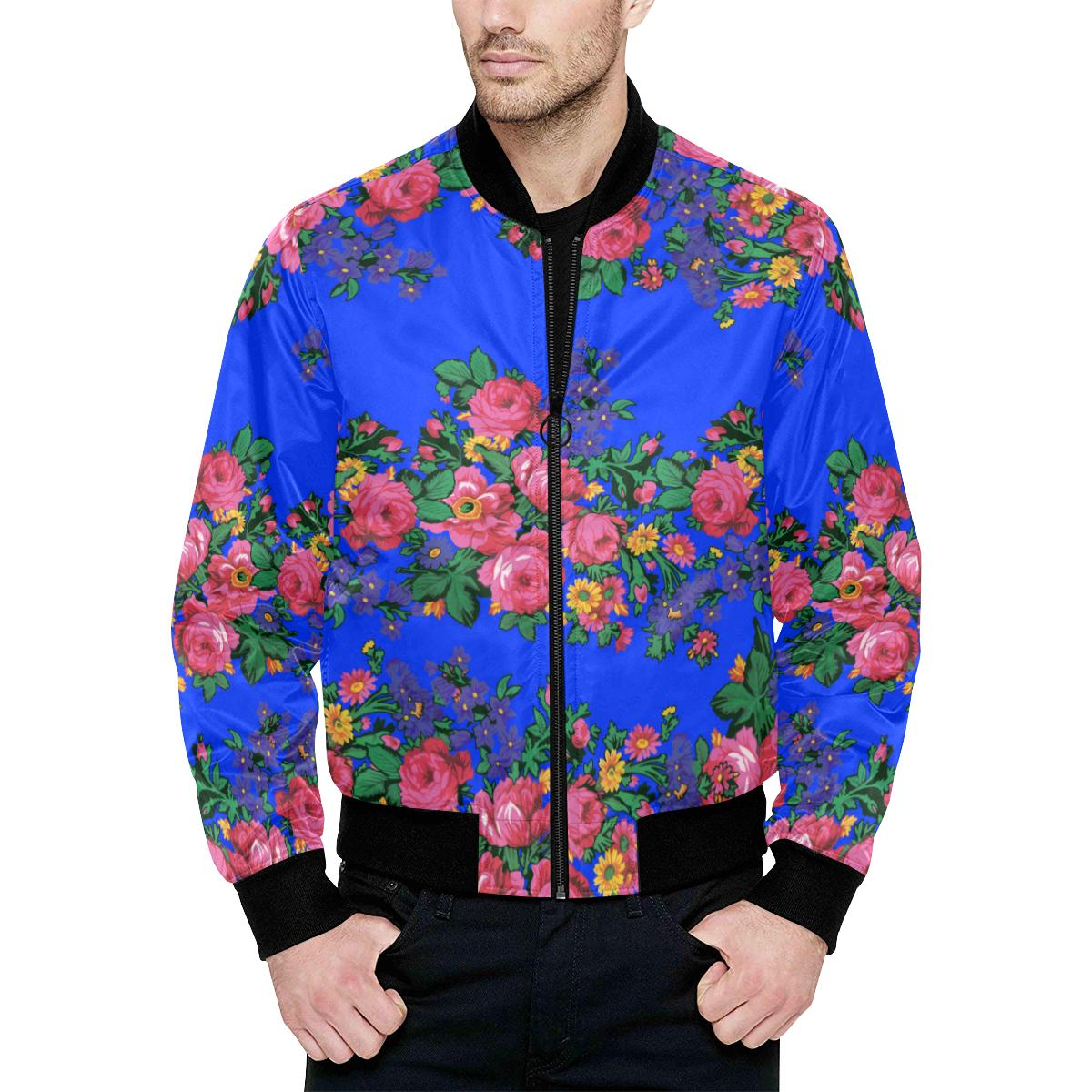 Kokum's Revenge- Royal Unisex Heavy Bomber Jacket with Quilted Lining All Over Print Quilted Jacket for Men (H33) e-joyer
