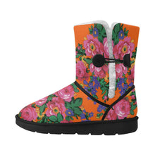Kokum's Revenge Sierra Unisex Single Button Snow Boots (Model 051) Unisex Single Button Snow Boots (051) e-joyer