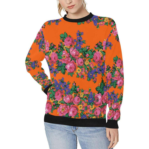 Kokum's Revenge Sierra Women's Rib Cuff Crew Neck Sweatshirt (Model H34) Rib Cuff Crew Neck Sweatshirt for Women (H34) e-joyer