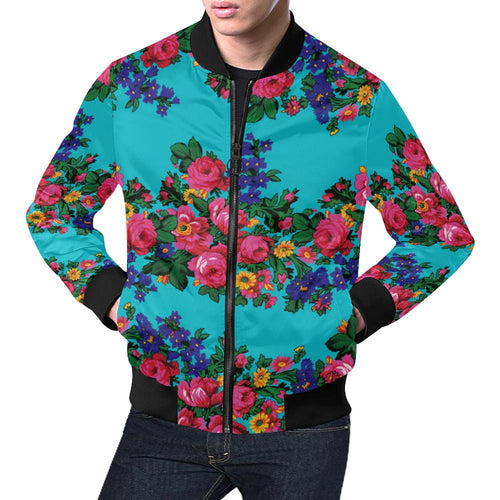 Kokum's Revenge-Sky All Over Print Bomber Jacket for Men/Large Size (Model H19) All Over Print Bomber Jacket for Men/Large (H19) e-joyer
