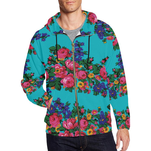 Kokum's Revenge-Sky All Over Print Full Zip Hoodie for Men (Model H14) All Over Print Full Zip Hoodie for Men (H14) e-joyer