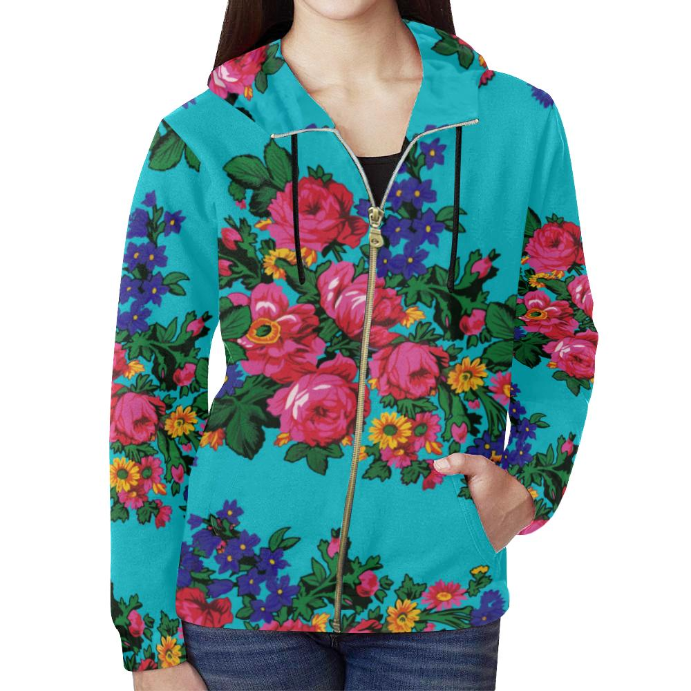 Kokum's Revenge-Sky All Over Print Full Zip Hoodie for Women (Model H14) All Over Print Full Zip Hoodie for Women (H14) e-joyer