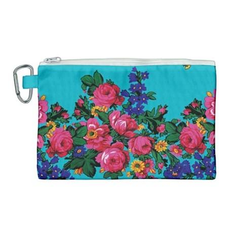 Kokum's Revenge Sky Canvas Cosmetic Bag (Large) cosmetic-bags 49 Dzine