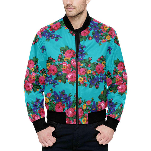 Kokum's Revenge-Sky Unisex Heavy Bomber Jacket with Quilted Lining All Over Print Quilted Jacket for Men (H33) e-joyer