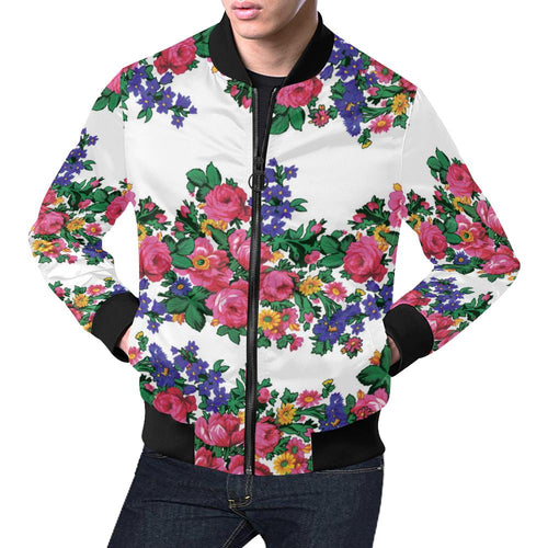 Kokum's Revenge-White All Over Print Bomber Jacket for Men/Large Size (Model H19) All Over Print Bomber Jacket for Men/Large (H19) e-joyer