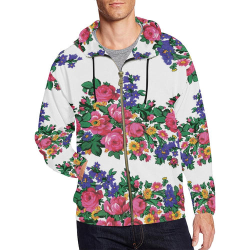 Kokum's Revenge-White All Over Print Full Zip Hoodie for Men (Model H14) All Over Print Full Zip Hoodie for Men (H14) e-joyer