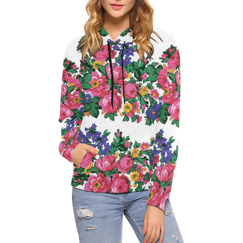 Kokum's Revenge-White All Over Print Hoodie for Women (USA Size) (Model H13) All Over Print Hoodie for Women (H13) e-joyer