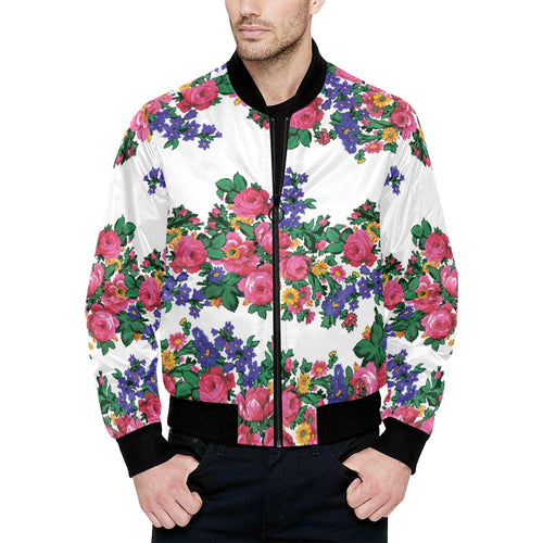 Kokum's Revenge-White Unisex Heavy Bomber Jacket with Quilted Lining All Over Print Quilted Jacket for Men (H33) e-joyer