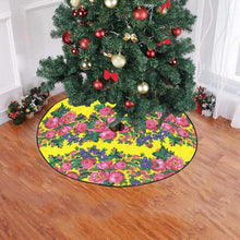 "Kokum's Revenge-Yellow Christmas Tree Skirt 47"" x 47"" Christmas Tree Skirt e-joyer"