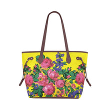 Kokum's Revenge-Yellow Clover Canvas Tote Bag (Model 1661) Clover Canvas Tote Bag (1661) e-joyer