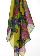 Kokums Revenge Yellow Large Sqaure Chiffon Scarf fashion-scarves 49 Dzine