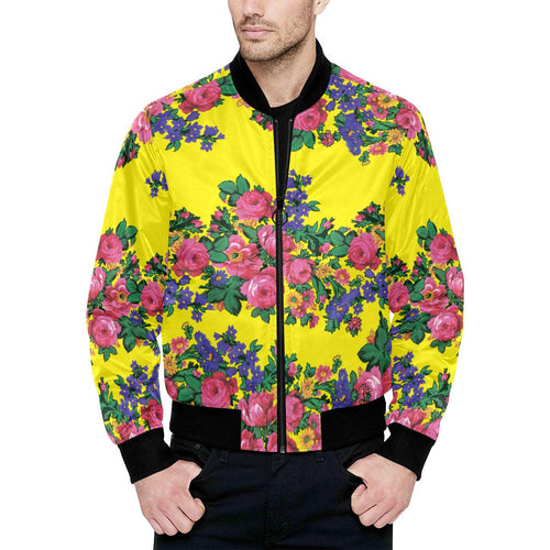 Kokum's Revenge-Yellow Unisex Heavy Bomber Jacket with Quilted Lining All Over Print Quilted Jacket for Men (H33) e-joyer