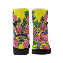 Kokum's Revenge-Yellow Unisex Single Button Snow Boots (Model 051) Unisex Single Button Snow Boots (051) e-joyer