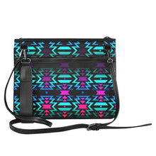 Lake Fire and Sky Slim Clutch Bag (Model 1668) Slim Clutch Bags (1668) e-joyer