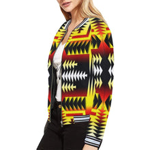 Medicine Wheel Sage All Over Print Bomber Jacket for Women (Model H21) All Over Print Bomber Jacket for Women (H21) e-joyer