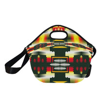 Medicine Wheel Sage Large Insulated Neoprene Lunch Bag That Replaces Your Purse (Model 1669) Neoprene Lunch Bag/Large (1669) e-joyer