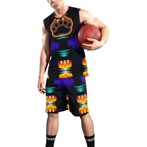 Midnight Sage Bearpaw All Over Print Basketball Uniform Basketball Uniform e-joyer