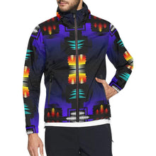 midnight sage fire II All Over Print Windbreaker for Men (Model H23) All Over Print Windbreaker for Men (H23) e-joyer