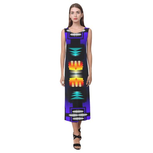 midnight sage fire II Phaedra Sleeveless Open Fork Long Dress (Model D08) Phaedra Sleeveless Open Fork Long Dress (D08) e-joyer