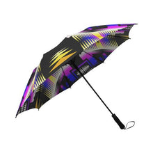 Moon Shadow and Yellow Sage Semi-Automatic Foldable Umbrella Semi-Automatic Foldable Umbrella e-joyer