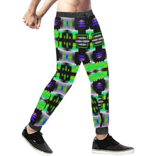 Moon Shadow Green Sage Men's All Over Print Sweatpants (Model L11) Men's All Over Print Sweatpants (L11) e-joyer