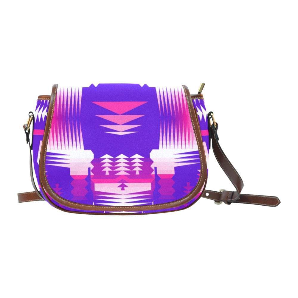 Moon Shadow Sunset Saddle Bag/Small (Model 1649) Full Customization Saddle Bag/Small (Full Customization) e-joyer