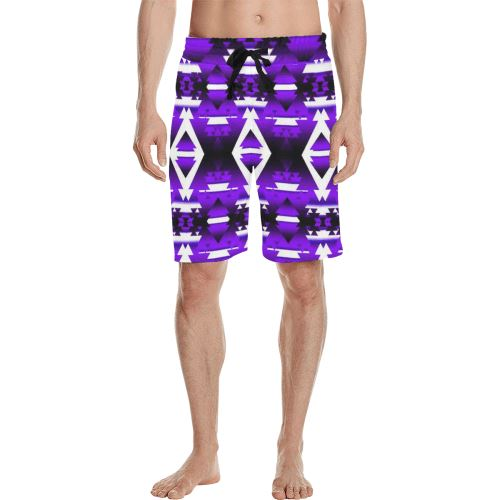 Moon Shadow Winter Camp Men's All Over Print Casual Shorts (Model L23) Men's Casual Shorts (L23) e-joyer