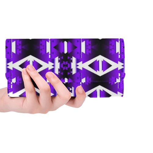 Moon Shadow Winter Camp Women's Trifold Wallet (Model 1675) Women's Trifold Wallet e-joyer