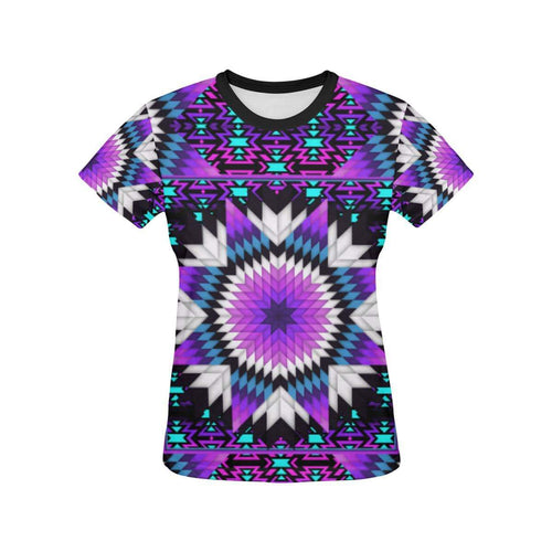 Morning Starfire All Over Print T-shirt for Women/Large Size (USA Size) (Model T40) All Over Print T-Shirt for Women/Large (T40) e-joyer