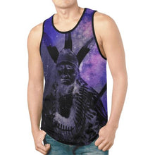 Native Man Blue New All Over Print Tank Top for Men (Model T46) New All Over Print Tank Top for Men (T46) e-joyer