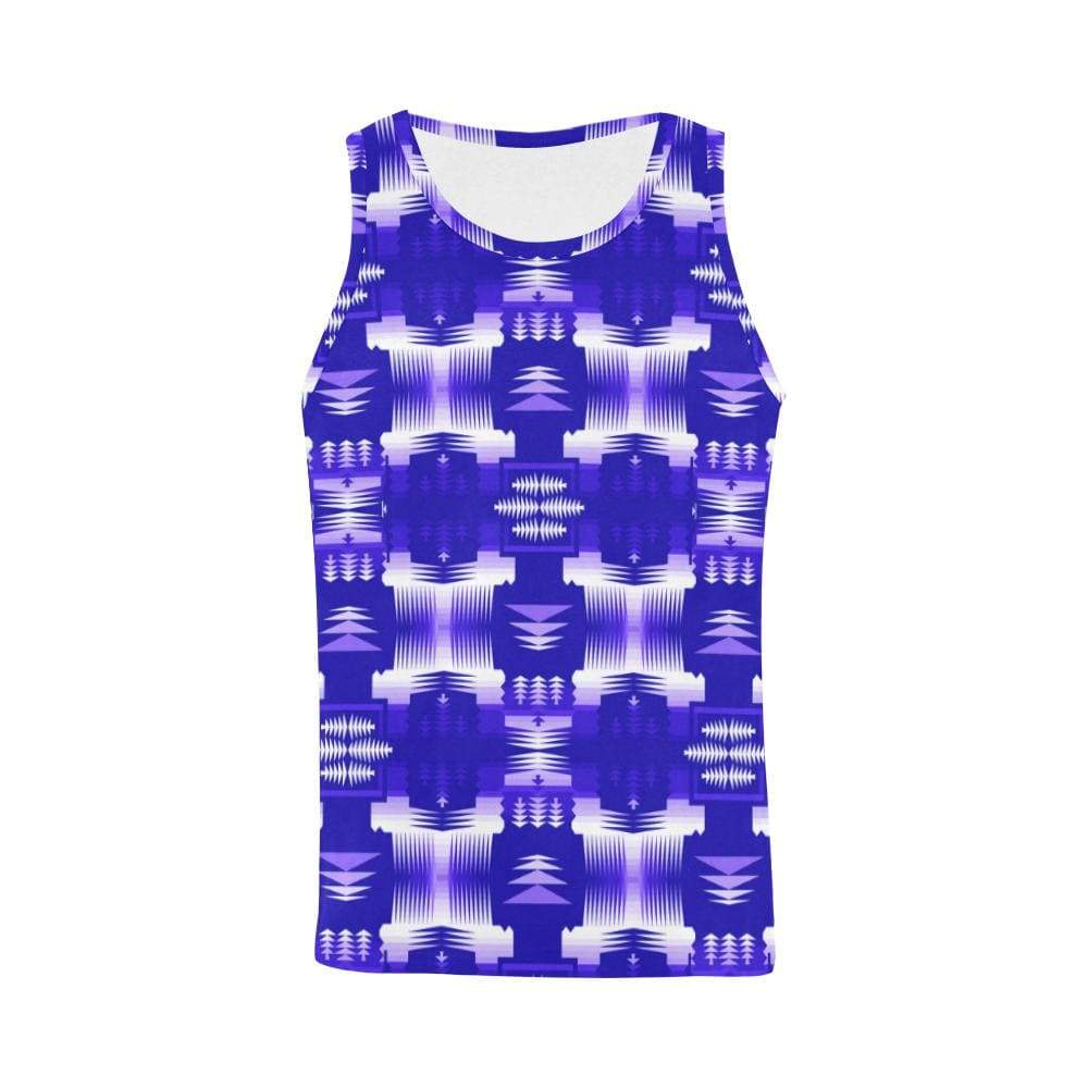 Navy Blue Sage All Over Print Tank Top for Men (Model T43) All Over Print Tank Top for Men e-joyer