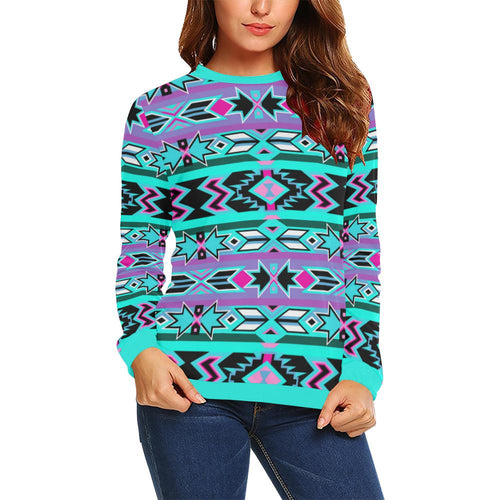Northeast Journey All Over Print Crewneck Sweatshirt for Women (Model H18) Crewneck Sweatshirt for Women (H18) e-joyer