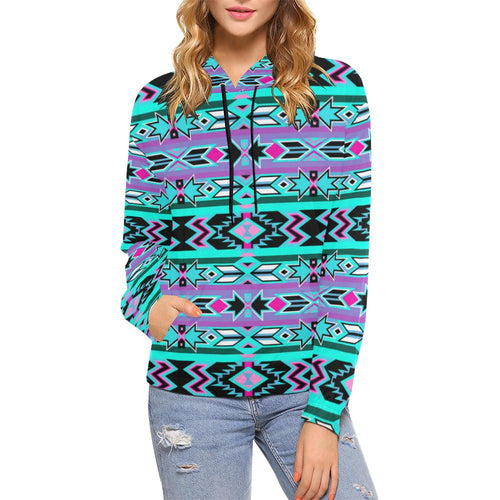 Northeast Journey All Over Print Hoodie for Women (USA Size) (Model H13) All Over Print Hoodie for Women (H13) e-joyer