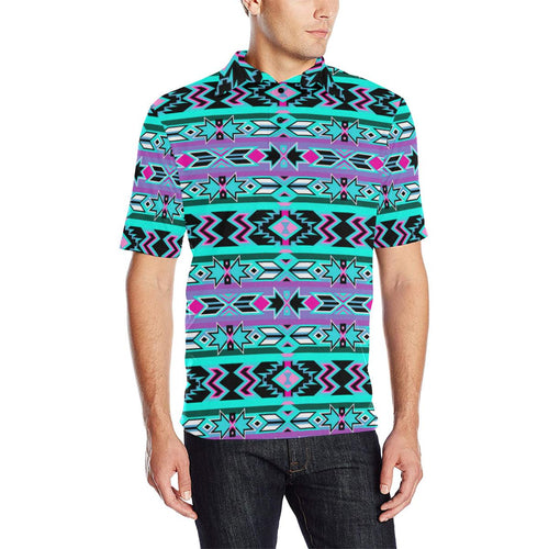 Northeast Journey Men's All Over Print Polo Shirt (Model T55) Men's Polo Shirt (Model T55) e-joyer