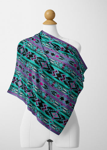 Northeast Journey Satin Shawl Scarf 49 Dzine