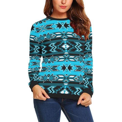 Northern Journey All Over Print Crewneck Sweatshirt for Women (Model H18) Crewneck Sweatshirt for Women (H18) e-joyer