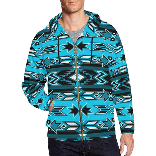Northern Journey All Over Print Full Zip Hoodie for Men (Model H14) All Over Print Full Zip Hoodie for Men (H14) e-joyer