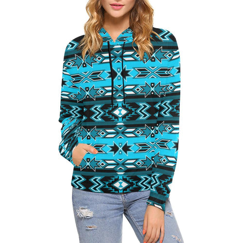 Northern Journey All Over Print Hoodie for Women (USA Size) (Model H13) All Over Print Hoodie for Women (H13) e-joyer