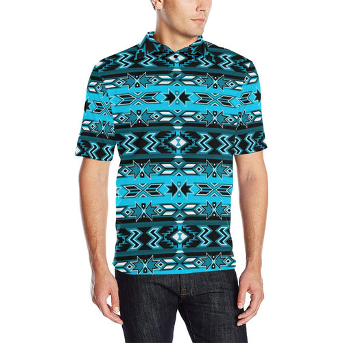 Northern Journey Men's All Over Print Polo Shirt (Model T55) Men's Polo Shirt (Model T55) e-joyer