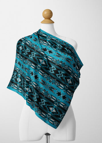 Northern Journey Satin Shawl Scarf 49 Dzine