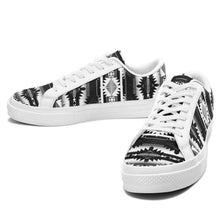 Okotoks Black and White Aapisi Low Top Canvas Shoes White Sole 49 Dzine