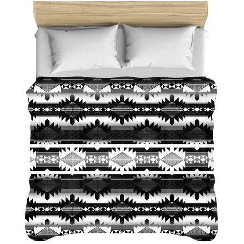 Okotoks Black and White Comforters 49 Dzine 88x104 inch - King Size