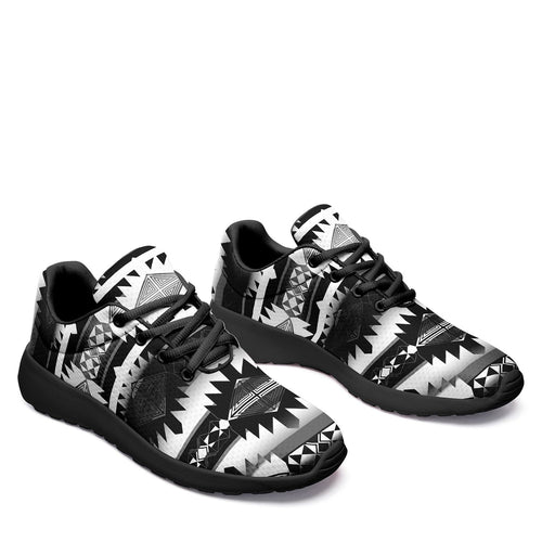 Okotoks Black and White Ikkaayi Sport Sneakers 49 Dzine