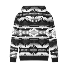 Okotoks Black and White Kids' All Over Print Hoodie (Model H38) Kids' AOP Hoodie (H38) e-joyer