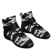 Okotoks Black and White Kid's Ipottaa Basketball / Sport High Top Shoes 49 Dzine